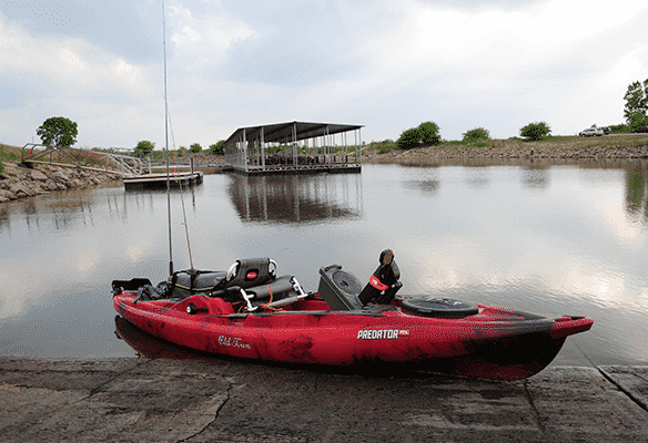 How to avoid weeds on a pedal kayak