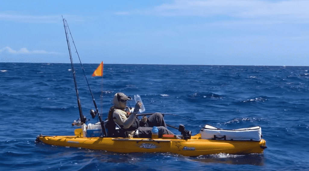 Fisherman fights 500 pound marlin in Hobie Pedal Kayak